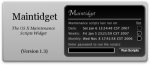 Maintenance Scripts Widget