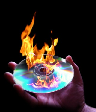 CD-DVD-Burning-Fire