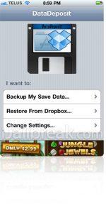 DataDeposit, κρατήστε τα Application Data για το iOS
