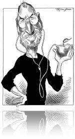 Καμπόσα Cartoons σχετικά με τον Steve Jobs