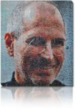 Πορτρέτο του Steve Jobs φτιαγμένο με bubble wrap